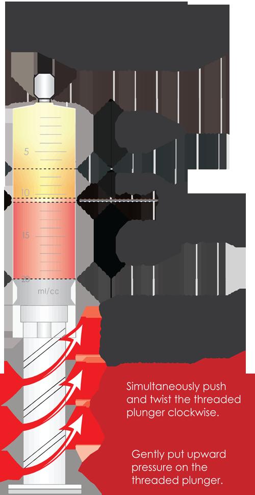 YES PRP Kit Threaded Plunger